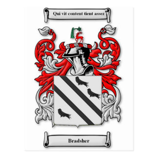Bradsher Coat of Arms Postcard