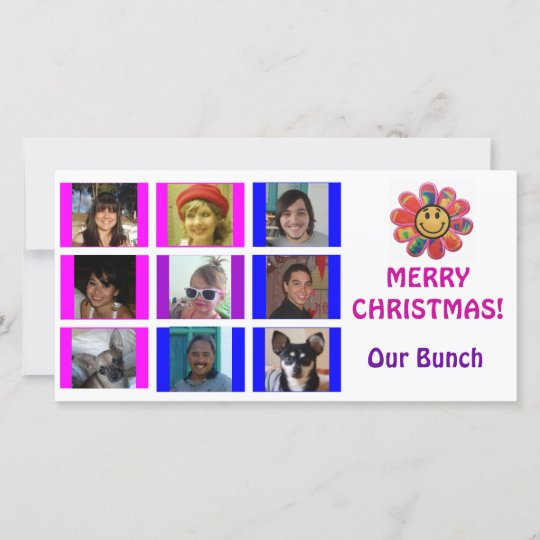 Brady Bunch Christmas Card.Brady Bunch Style Grid Birthday Christmas Card