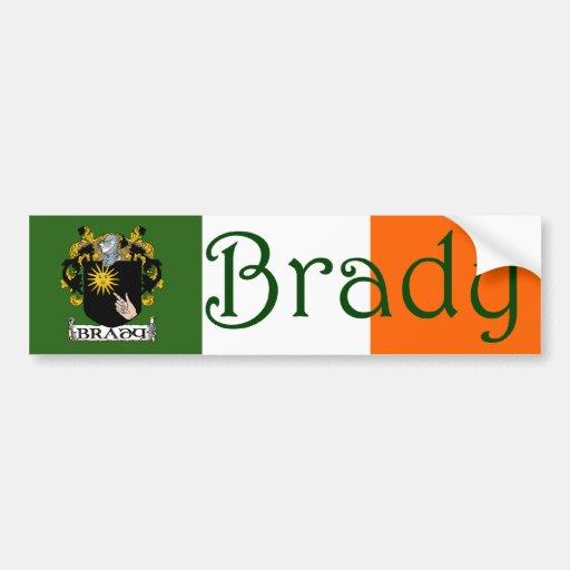 Brady Coat of Arms Bumper Sticker