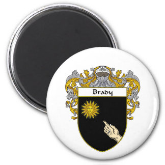 Brady Coat of Arms (Mantled) Magnet