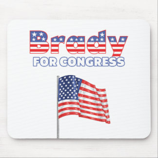 Brady for Congress Patriotic American Flag Mouse Pad