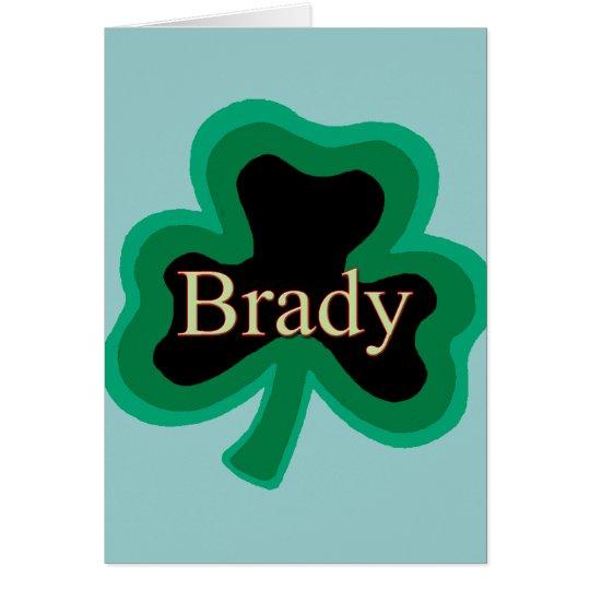 Brady Irish Card