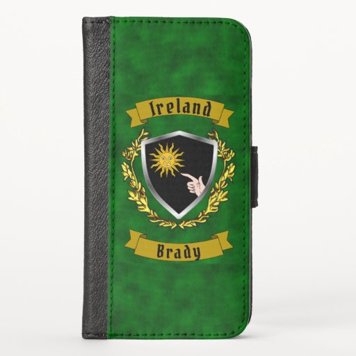 Brady Irish Shield iPhone Wallet Case