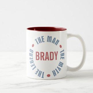 Brady Man Myth Legend Customizable Two-Tone Coffee Mug