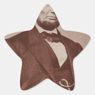[Brady photograph of Abraham Lincoln Star Sticker