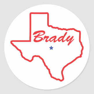 Brady - Texas Classic Round Sticker