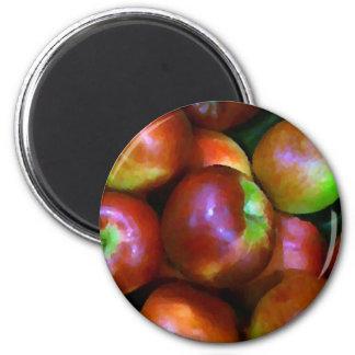 Braeburn Apples 2 Inch Round Magnet