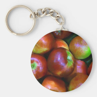 Braeburn Apples Basic Round Button Keychain