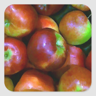 Braeburn Apples Square Sticker