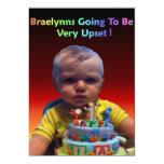 Braelynns 1st Birthday Invitation