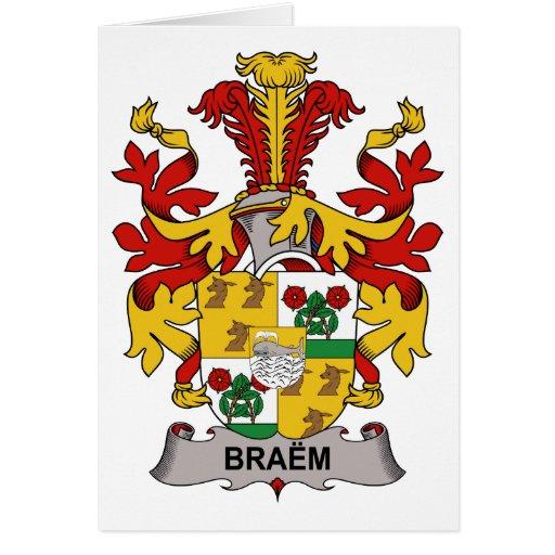 Braem Family Crest Greeting Card