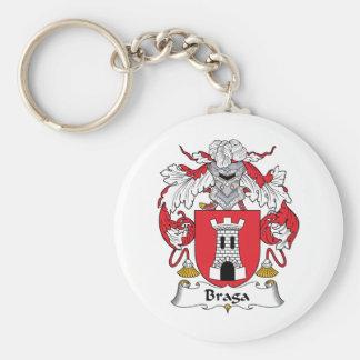 Braga Family Crest Basic Round Button Keychain
