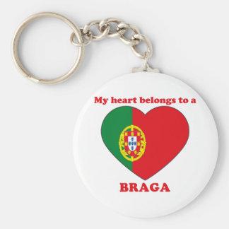 Braga Basic Round Button Keychain