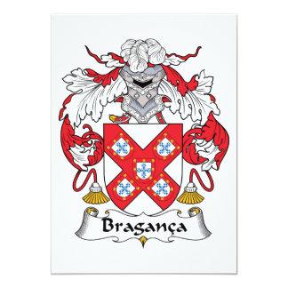 Braganca Family Crest Card