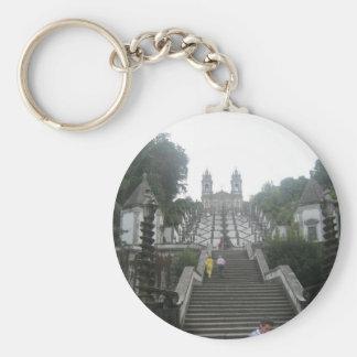 Braga's Castle Basic Round Button Keychain