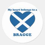 Bragge Round Sticker