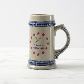 Bragging Rights Lacrosse Beer Stein