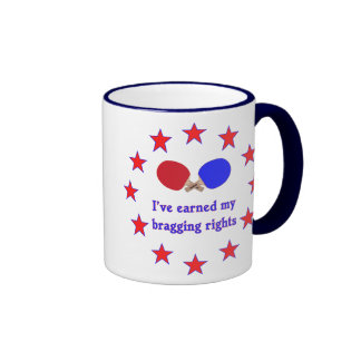 Bragging Rights Ping Pong Coffee Mugs