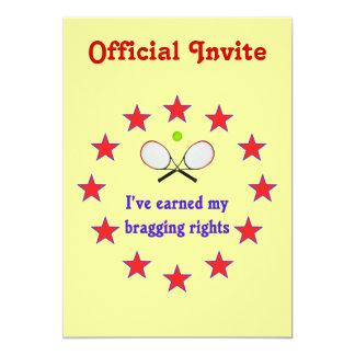 Bragging Rights Tennis Custom Invite