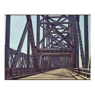 Bragueros del puente de Mississippi Tarjetas Postales