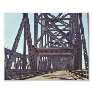 Bragueros del puente del río Misisipi Fotos