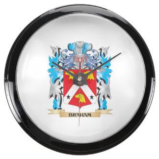 Braham Coat of Arms Aquarium Clock