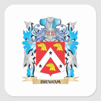 Braham Coat of Arms Square Sticker