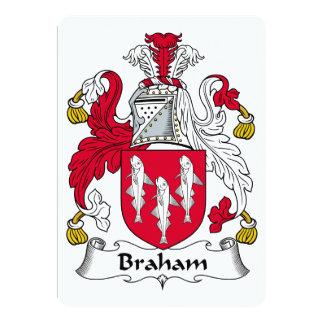 "Braham Family Crest 5"" X 7"" Invitation Card"