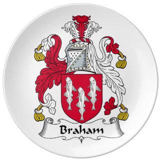 Braham Family Crest Porcelain Plates