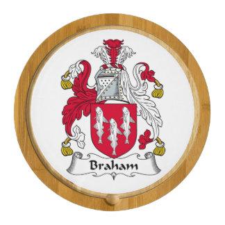 Braham Family Crest Round Cheeseboard