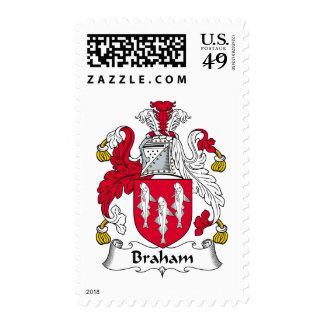 Braham Family Crest Postage Stamps