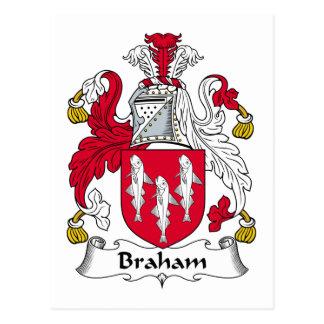 Braham Family Crest Postcard