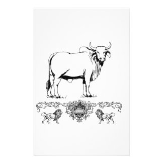 Brahma bull display stationery