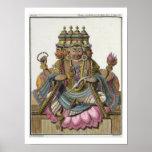 Brahma, dios hindú de la creación, del 'viaje aux. poster