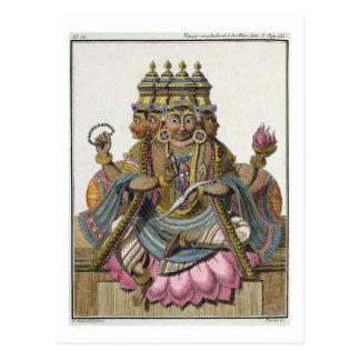 Brahma, dios hindú de la creación, del 'viaje aux. postal