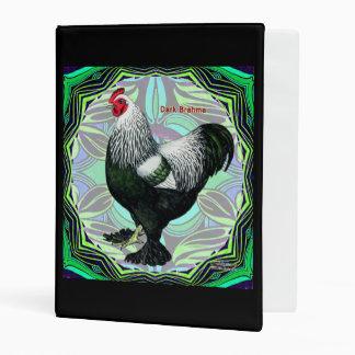 Brahma:  Fancy Dark Rooster Mini Binder