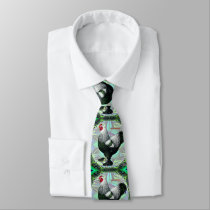 Brahma:  Fancy Dark Rooster Neck Tie
