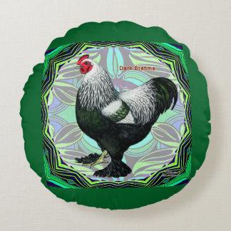 Brahma:  Fancy Dark Rooster Round Pillow