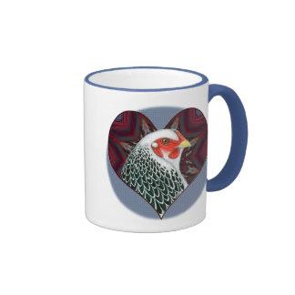 Brahma Hen Heart Coffee Mugs