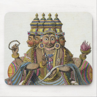 Brahma, Hindu god of creation, from 'Voyage aux In Mouse Pad