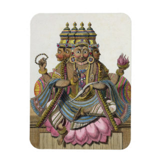 Brahma, Hindu god of creation, from 'Voyage aux In Vinyl Magnets