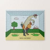 Brahma-Llama Diorama Jigsaw Puzzle