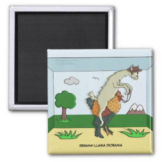 Brahma-Llama Diorama Magnet Refrigerator Magnets