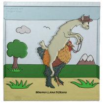 Brahma-Llama Diorama Napkins