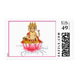 BRAHMA - PRAJAPATI - HINDU GODDESS STAMPS