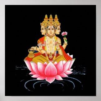 BRAHMA - PRAJAPATI - HINDU GODDESS print