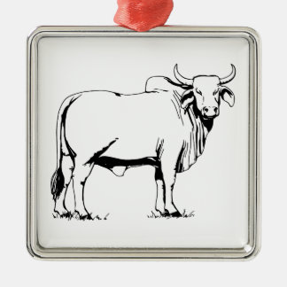 Brahman Cow Metal Ornament