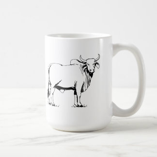 Brahman Cow Classic White Coffee Mug
