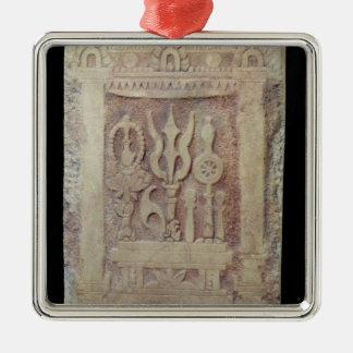 Brahman stele depicting the Trimurti Metal Ornament