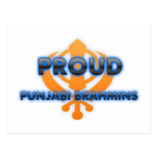 Brahmanes orgullosos del Punjabi, orgullo de los b Tarjetas Postales